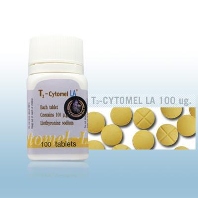 T3 Cytomel LA by LA Pharma 100mcg x 100 tablets