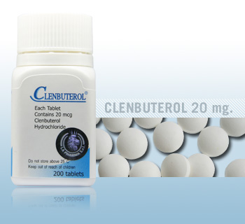 Clenbuterol by La Pharma 20mcg x 200 tablets