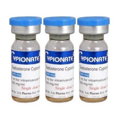 Cypionate by LA Pharma 200mg/ml x 3 amps