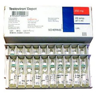 Testoviron Depot by Schering 250mg/ml x 20 amps